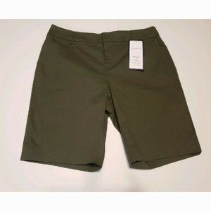 Charter Club Petite Twill Bermuda Beige Shorts